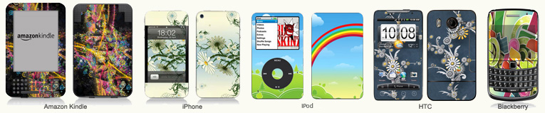 buy iPod and iPhne skins with my design