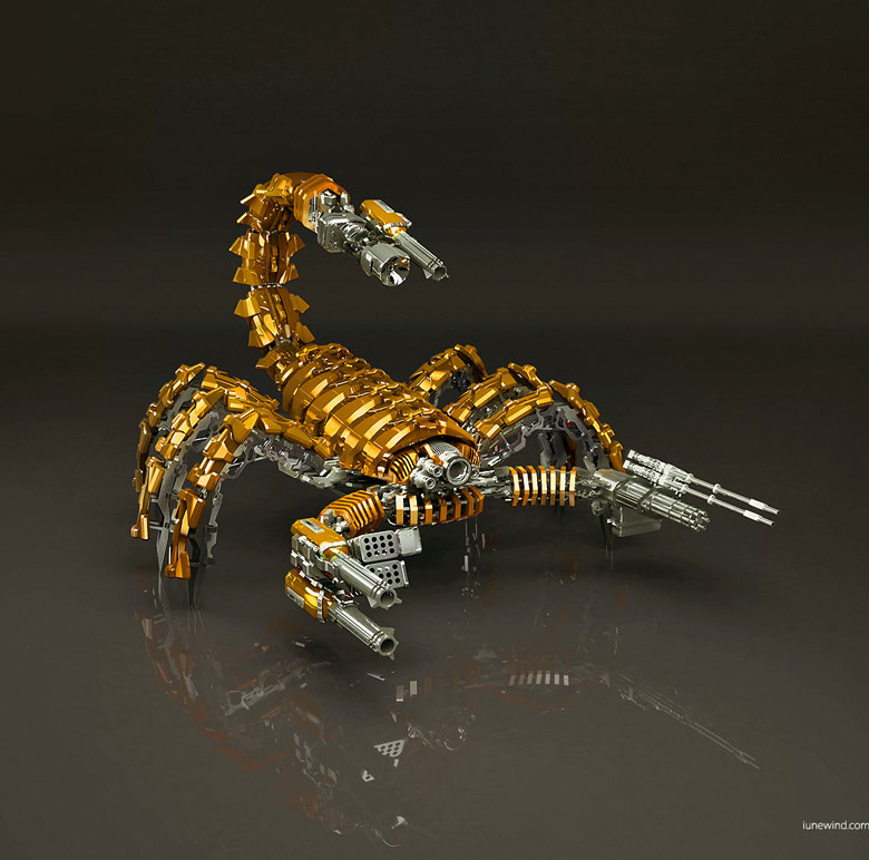 Mad Scorpion Gold Edition Render