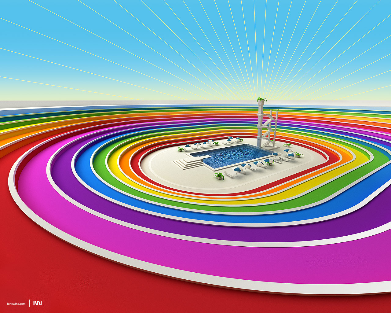 Colored Stadium